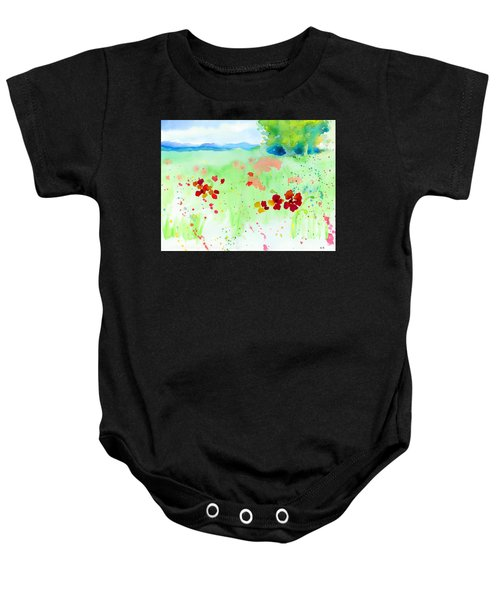 Poppy Passion Baby Onesie