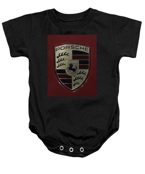 Porsche Emblem Baby Onesie