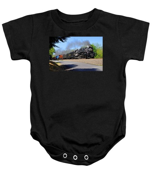 Powerful Nickel Plate Berkshire Baby Onesie