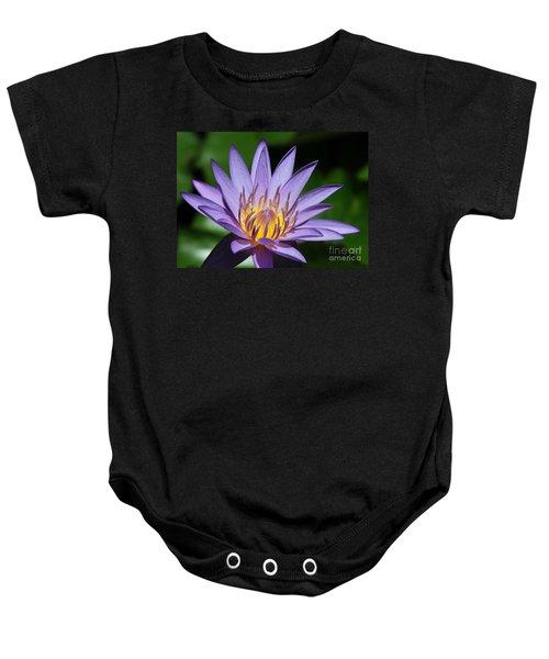 Pretty Purple Petals Baby Onesie