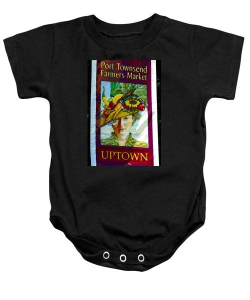 Port Townsend Banner Artwork Baby Onesie