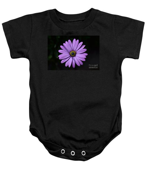 Purple African Daisy Baby Onesie