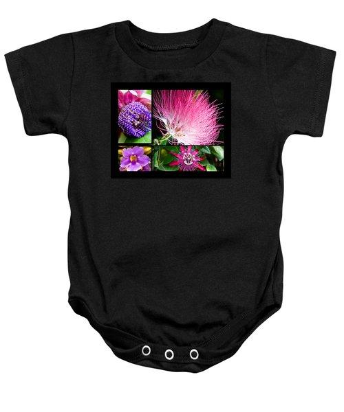 Purple Bouquet Baby Onesie