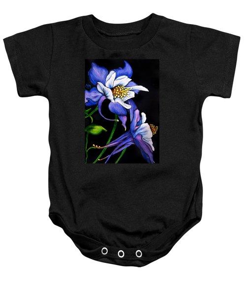 Purple Columbine Baby Onesie