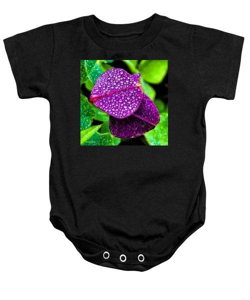 Purple Shimmer Baby Onesie