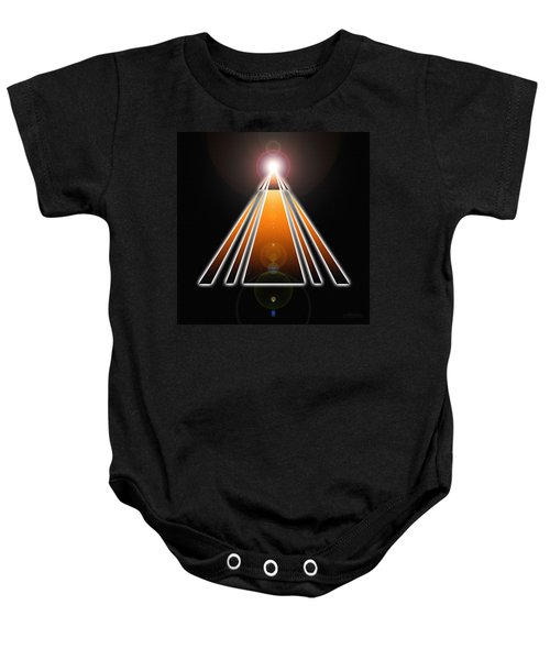 Pyramid Of Light Baby Onesie