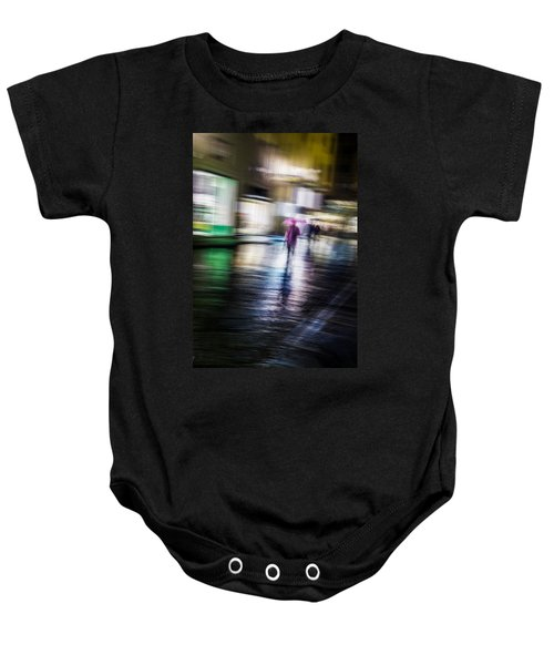 Baby Onesie featuring the photograph Rainy Streets by Alex Lapidus