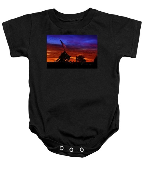 Raising The Flag Baby Onesie