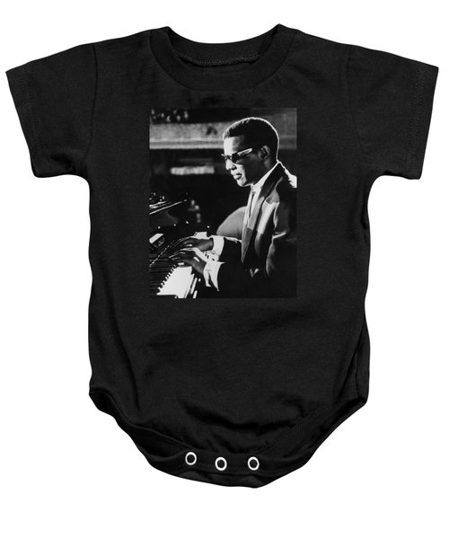 Ray Charles At The Piano Baby Onesie