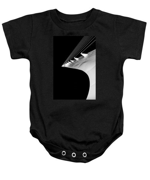 Reading A Sundial At Midnight Baby Onesie by Alex Lapidus