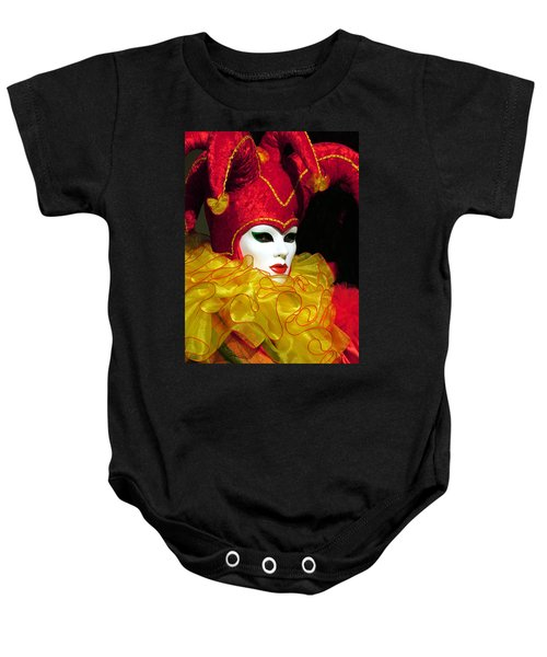 Red And Yellow Jester Baby Onesie