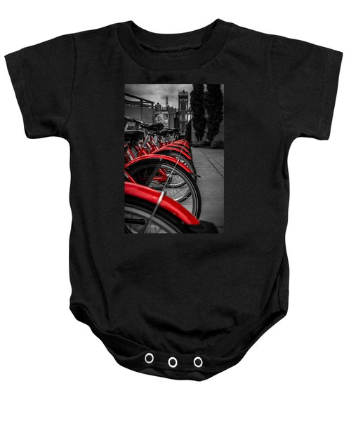 Red Bicycles Baby Onesie