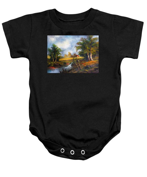 Red Cottage Baby Onesie