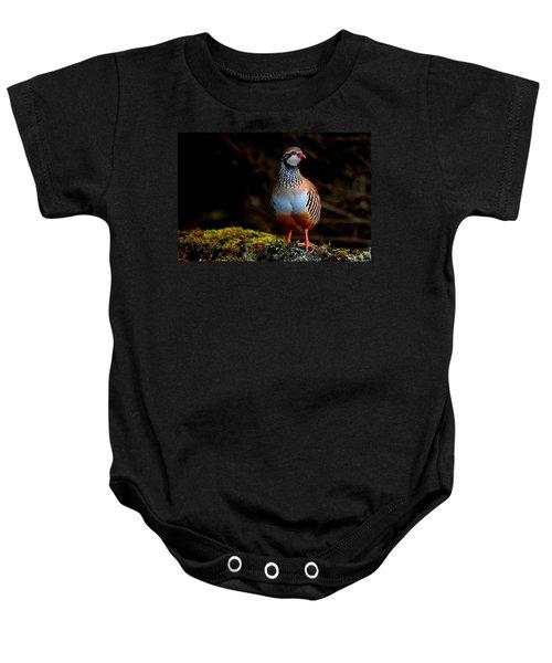 Red-legged Partridge Baby Onesie