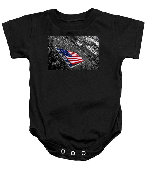 Red White And Blue Baby Onesie