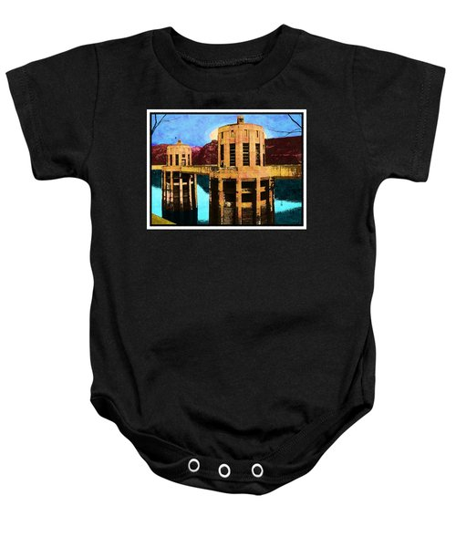 Reflections At Hoover Dam Baby Onesie