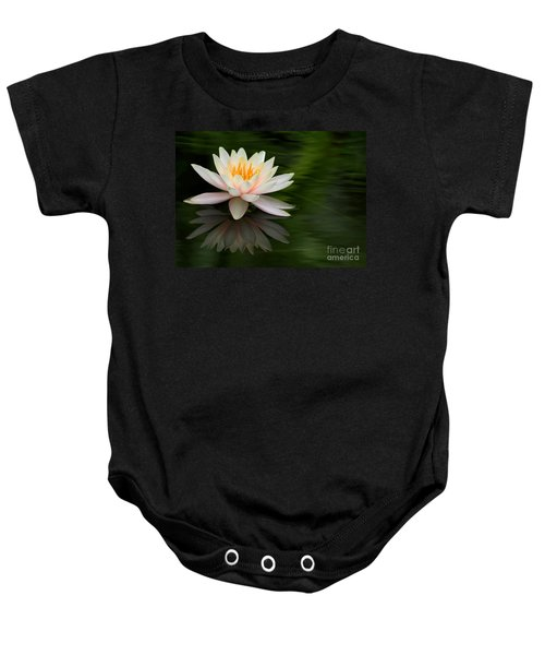 Reflections Of A Water Lily Baby Onesie