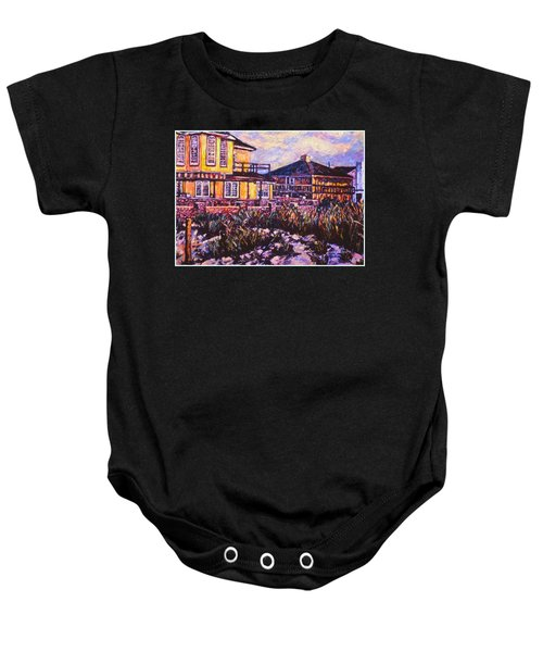 Baby Onesie featuring the painting Rehoboth Beach Houses by Kendall Kessler