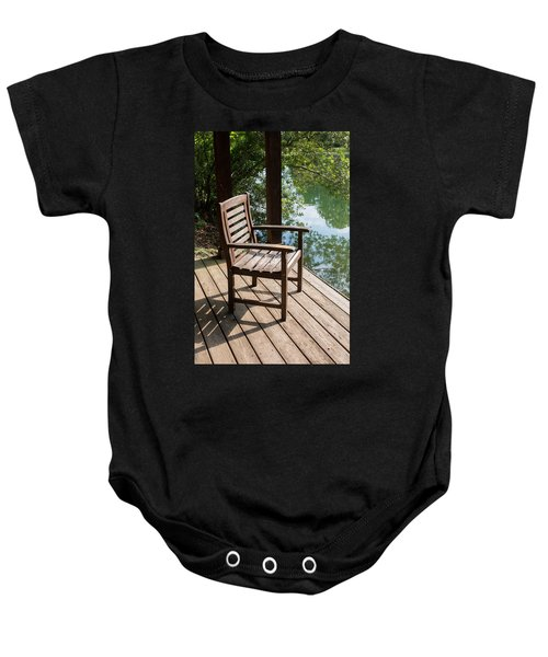Alone By The Lake Baby Onesie