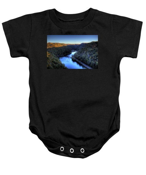 Baby Onesie featuring the photograph River Cut Through The Valley by Jonny D