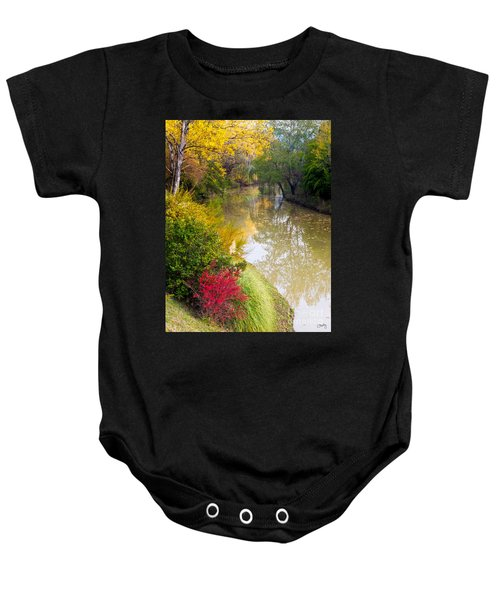 River With Autumn Colors Baby Onesie