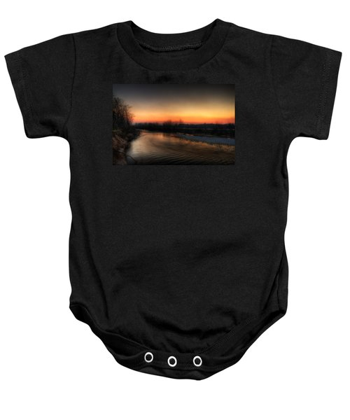 Riverscape At Sunset Baby Onesie
