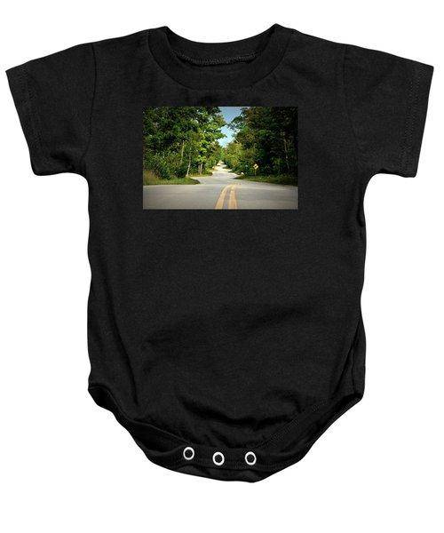 Roadway Slalom Baby Onesie