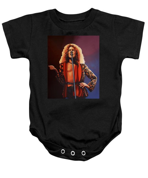 Robert Plant Of Led Zeppelin Baby Onesie by Paul Meijering
