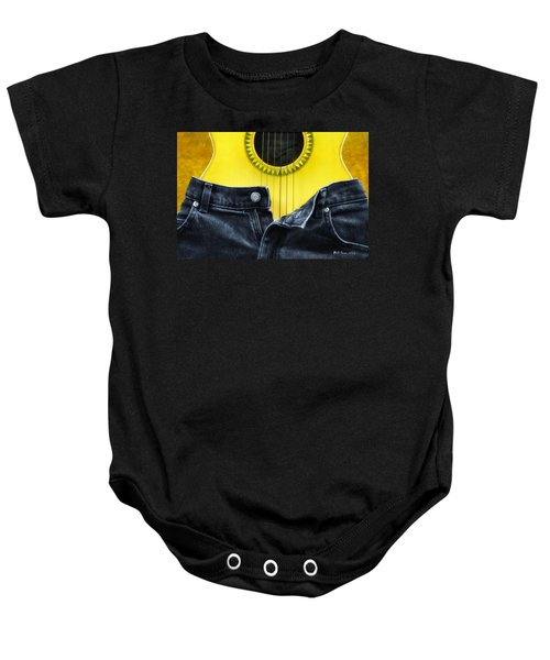 Rock And Roll Woman Baby Onesie