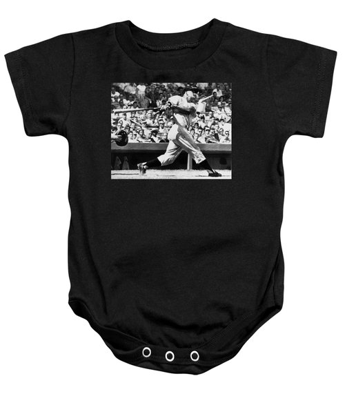Roger Maris Hits 52nd Home Run Baby Onesie by Underwood Archives