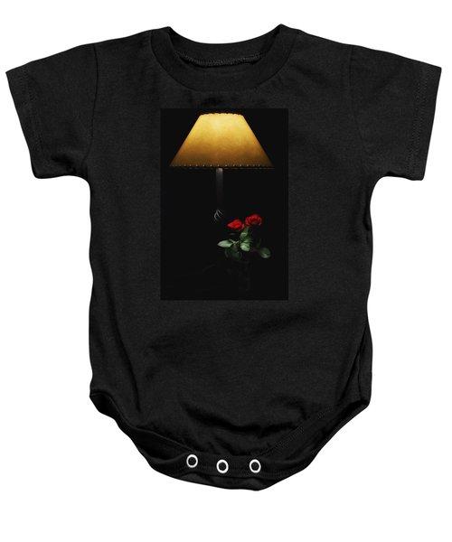 Roses By Lamplight Baby Onesie