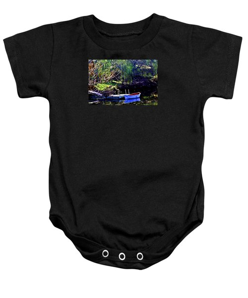 Row Boat At Dock Baby Onesie