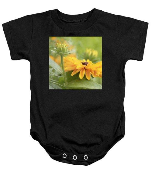 Rudbeckia Flower Baby Onesie
