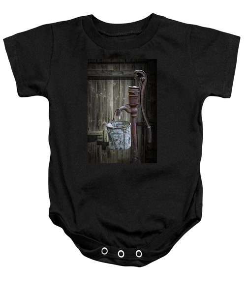 Rusty Hand Water Pump Baby Onesie