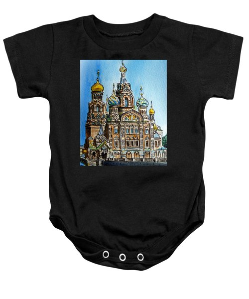 Saint Petersburg Russia The Church Of Our Savior On The Spilled Blood Baby Onesie