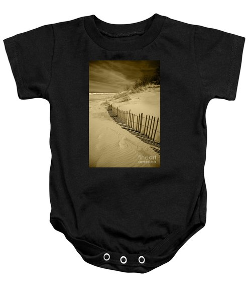 Sand Dunes And Fence Baby Onesie