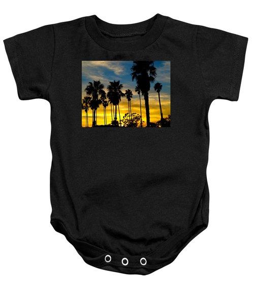 Santa Barbara Sunset Baby Onesie