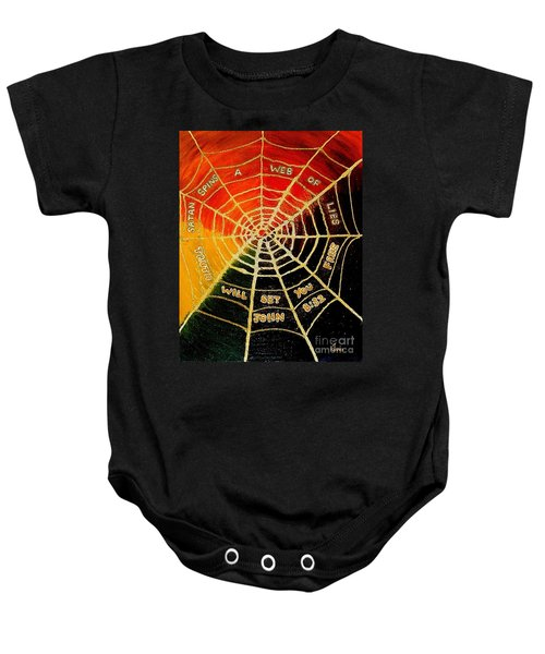 Satan's Web Of Lies Baby Onesie