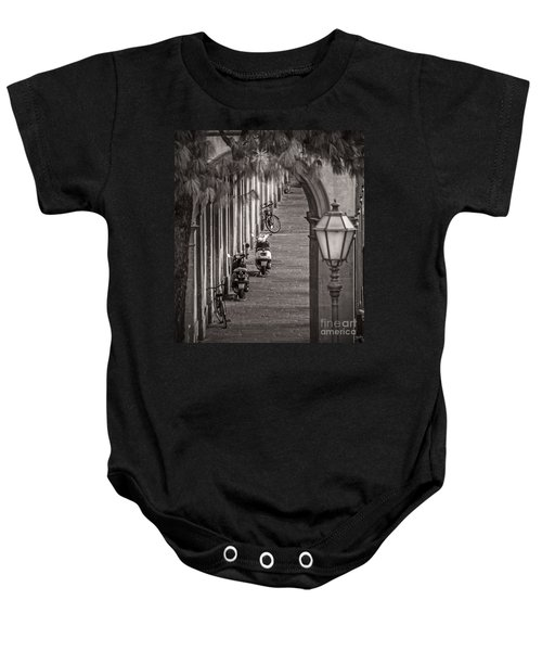 Scooters And Bikes Baby Onesie