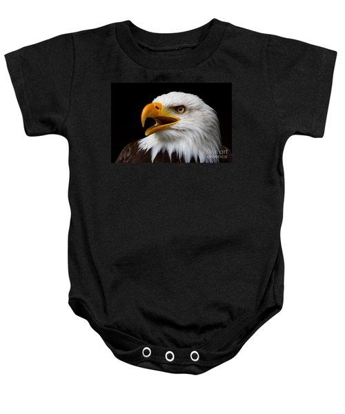 Screaming Bald Eagle Baby Onesie