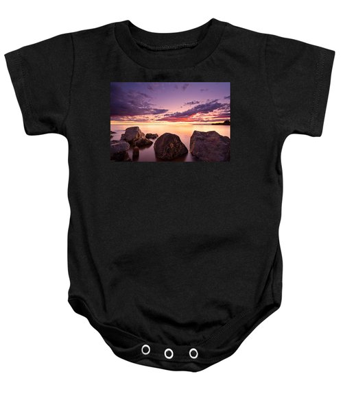 Sea At Sunset The Sky Is In Beautiful Dramatic Color Baby Onesie