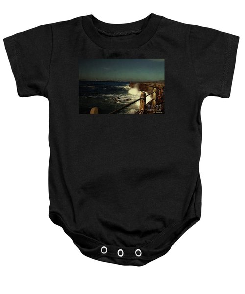 Sea Wall At Night Baby Onesie
