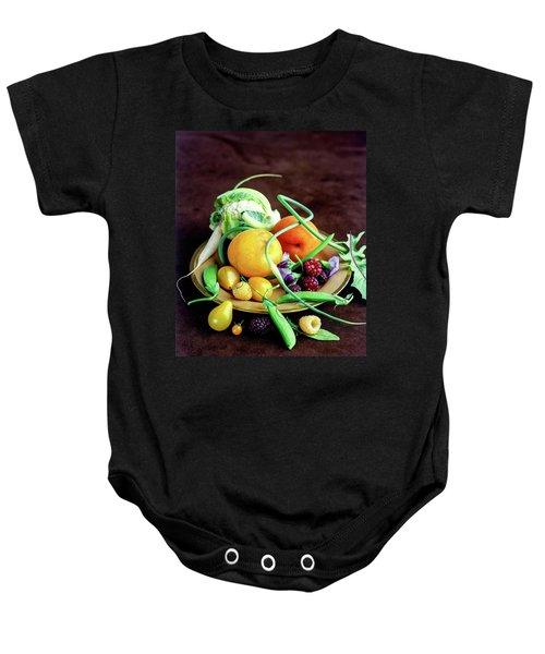 Seasonal Fruit And Vegetables Baby Onesie