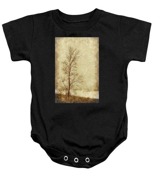 Sentinel Tree In Winter Baby Onesie