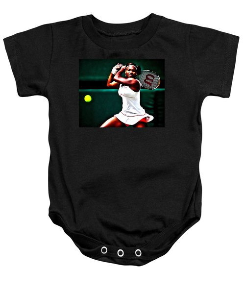 Serena Williams 3a Baby Onesie by Brian Reaves