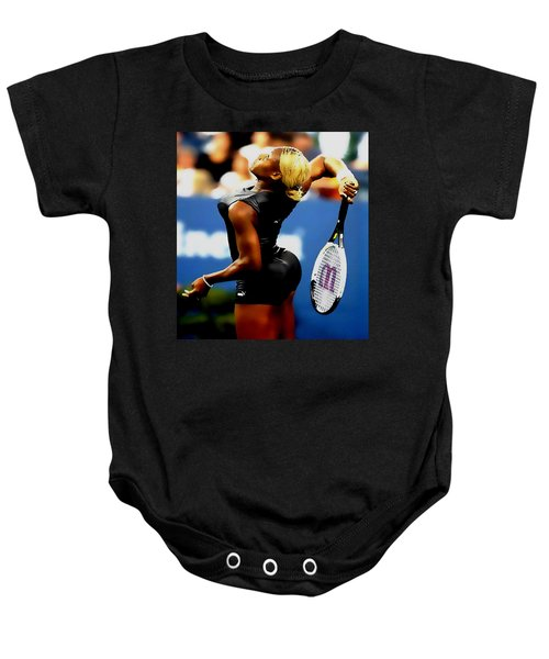 Serena Williams Catsuit II Baby Onesie by Brian Reaves