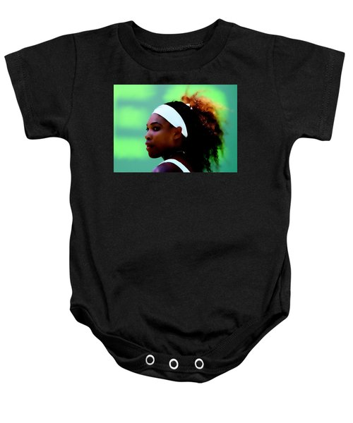 Serena Williams Match Point Baby Onesie by Brian Reaves