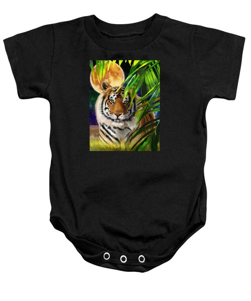Second In The Big Cat Series - Tiger Baby Onesie