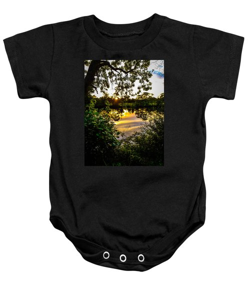Baby Onesie featuring the photograph Shannon River Sunset At Roosky by James Truett