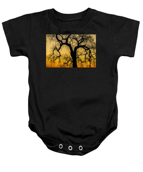 Silhouette Oak Baby Onesie
